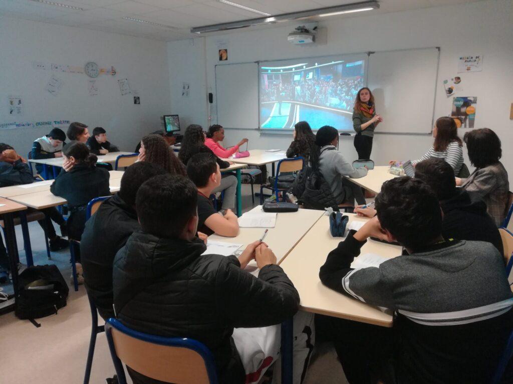 Les élèves avaient le choix entre créer des stories ou une vidéo d'1m30 sur Instagram. Crédit : Sandra Laffont.