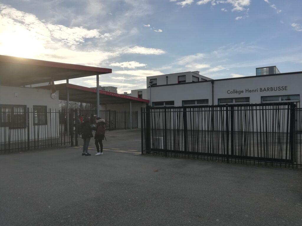 Le collège Henri Barbusse à Vaulx-en-Velin